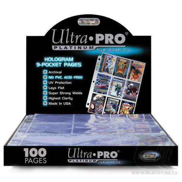 Stránka do alba UltraPro  s hologramem - Platinum Series