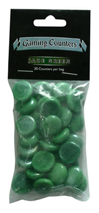 Dragon Shield - Gaming Counters - Jade Green 30ks