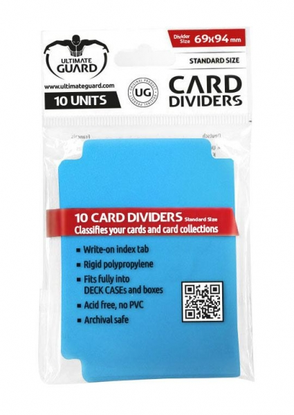 Oddělovač na karty Ultimate Guard Card Dividers Standard Size Blue - 10ks